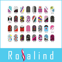 KF 50 packs/lot 12pcs/pack different styles nail stiker nail art convenient nail sticker  2013013