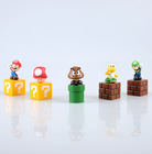 "Hot super mario bros goomba luigi 2"" figure toy lot 5 SM1(China (Mainland))"