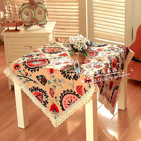 Medium-large thickening fluid print table cloth tablecloth table runner round table dining table cloth cushion(China (Mainland))