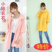 Winter 2013 spring autumn and winter women woolen outerwear overcoat black sheep cloak pink