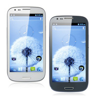 Dual sim I9300 S3 MTK6589 quad core android phone 1G RAM 4G ROM 4.7 inch capacitive screen Haipai i9389 Free shipping