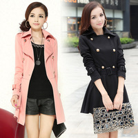 2013 women's trench thin outerwear spring and autumn clothing plus size mm spring