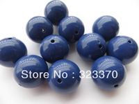 20mm Arylic Chunky Beads,Navy blue Color 110pcs A Lot Acrylic chunky Solid  Beads for Necklace&Bracelet Jewelry!