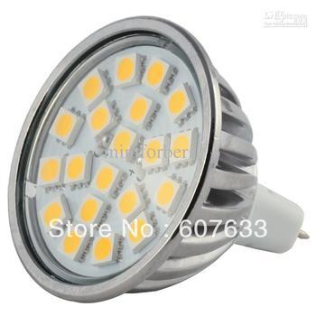 4W MR16 LED Bulb Dimmable 20 LED cool white/warm white AC/DC12V 120 Degree