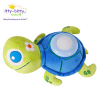 Free Shipping Music night light toy small turtles baby light sleep projection lamp cloth light sleep