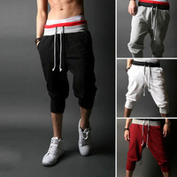 Mens Casual Summer Sport Trousers Cropped Shorts Pants Jogging Plain Trouser