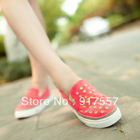The new summer mesh breathable shoes elastic lazy canvas shoes wet shoes women's flat shoes