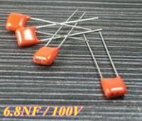 Free Shipping,100pcs/lot  CBB  Capacitor  6.8NF 682  100V  5MM  CBB22 Material