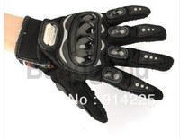 10pcs  Motorcycle Racing Riding Protective Gloves Black L BIke   Free shipping