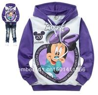 children's hoodies 6pcs/1lot kids clothing fashion hoody 100% cotton sweater free shipping,cnildren's clothing purple