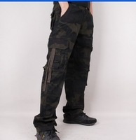 Male Outdoor Camouflage Pants Loose Casual Pants Straight All-match Multi-pocket Overalls Trousers  Hunting Camouflage Clothing