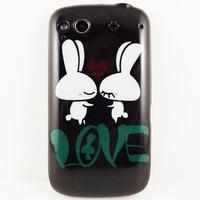 Cartoon Lover Rabbit Hard BACK COVER CASE Skin for HTC Desire S G12