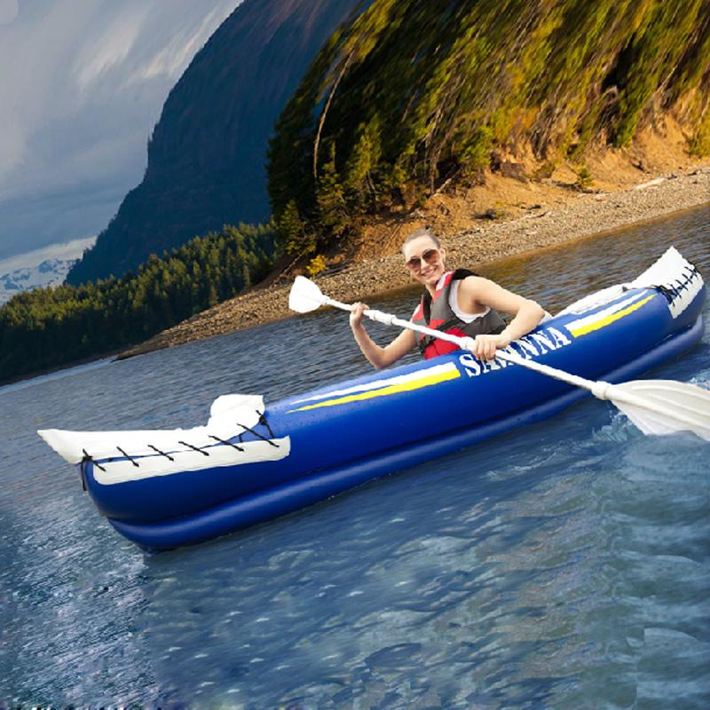 Thickening casual type canoe inflatable boat svanna bt-88580(China (Mainland))