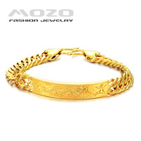 Min.order is $10 (mix order) Free Shipping Wholesale 2013 Fashion men's 18K gold chain Bracelets for men KS177