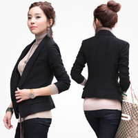 2013 spring small suit jacket women black blazer women's slim blazer