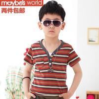 2013 children's clothing summer male child short-sleeve T-shirt child 100% cotton basic shirt