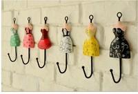 Free Shipping! 12pcs/lot Vintage Style Princess dress Iron Hook Wall Hanger Rural Home Decoration