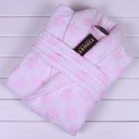 Autumn and winter thickening 100% quality cotton jacquard bathrobe robe