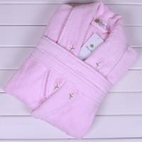 Bathrobes quality 100% women's cotton terry embroidered bath robe bathrobe robe