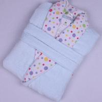 Bathrobes cotton 100% toweled dot women's bathrobes bathrobe robe