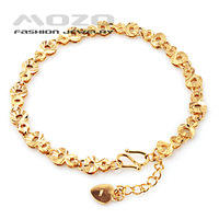 Min.order is $10 (mix order) Free Shipping Wholesale 2013 Fashion women's 18K gold chain Bracelets for women Gift KH130