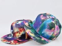 2013 new arrival 3d space pattern cap b-boy bboy k-pop cap kpop hip hop cap hip-hop cap flex fit flat brim hats popular in Japan