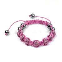 Best-seller-fashion-pink-crystal-disco-balls-shamballa-bracelet-for-girls