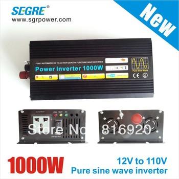 New 1000W Off Grid Inverter Pure Sine Wave Inverter DC12V input, Wind Solar Power Inverter