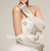 Elegant Design Fingerless Elbow Length Vintage Wedding Gloves With Beadings WA-003