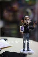 Free shipping 50pcs/lot Apples store CEO Steve Jobs figure 18cm resin material doll Artificial Sculpture Souvenir
