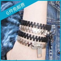 0978 fashion accessories punk personality zipper bracelet fashion male Women mix match