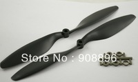 "14x4.7"" black 5 pair/pack CW/CCW Slow Flyer Propeller(Nylon+Carbon)"