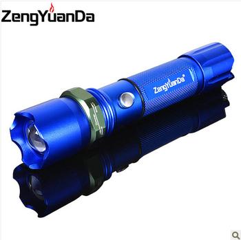Strong light flashlight led q5 flashlight mobile phone life-saving hammer belt charge