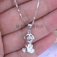 Lucky s925 pure silver pendants female zodiac pendant necklace chain necklace accessories jewelry