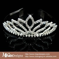 Wholesale elegant pageant crowns and tiaras/rhinestone hair jewelry crown for sale
