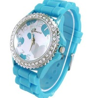 Hot Sale New Fashion Designer Ladies Sports Brand Silicone Watch Jelly Watch With Heard Shape Free Shipping