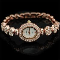 free shipping new fashion hand hour clock women's ladies quartz wrist dress watches with diamond crystals bracelet strap