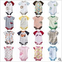 Neonatal R_carter carter s cotton, dress baby wrap fart baby romper suit short sleeve triangle