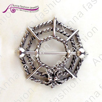 wholesale body jewelry,Fashion nipple buckle, retro color cobwebs,body piercing jewelry   dq0155