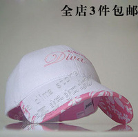 free shipping Hat women's summer baseball  female white outdoor travel  fashion  hat cap