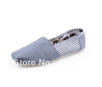 Fashion Stripe Canvas Shoes Women Men's Unisex shoes Classic Casual Sneaker drop ship