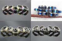 Free shipping Fashion design Wholesale mixed lots 4style 100pcs  rotation stainless steel men's rings s1214
