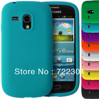 Soft Silicone Case for Samsung Galaxy S3 Mini i8190 S III  +Free Screen protector, Free Shipping