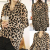 Sexy Womens Chiffon Leopard Print Summer Shirt Button Down Blouse Top M L XL XXL #L0341190