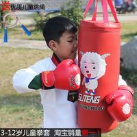 2014 boxing gloves luvas muay thai eco-friendly child gloves sandbagged boxing sandbag solid set home sports fitness equipment