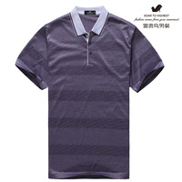Fuguiniao men's clothing 2013 spring male t-shirt male short-sleeve mercerized cotton polo shirt