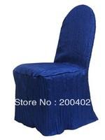 free shipping royal blue  taffeta crushed chair cover
