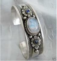 Tribe Tibet Silver rare Moonstone Jewelry Bracelet