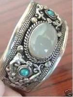Tibet Silver Moonstone Turquoise Bracelet/adjustable
