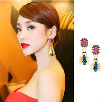 Min Order $10(Can mix order) Korean Star Fashion Big Beetle Stud Earrings Vintage Fashion Jewelry Free Shipping E1058